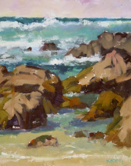 Asilomar Beach, California, 8x10in
