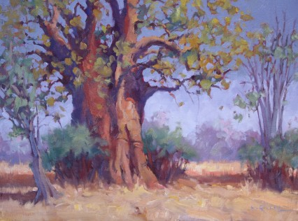 Big Baobab, Rainy Season, 12X16in