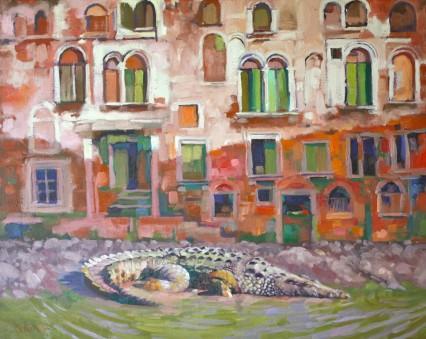 Crocodile Veneziano 50x60cm