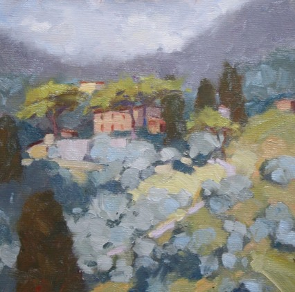 From near Pieve S. Stefano, Lucca, 8x8in
