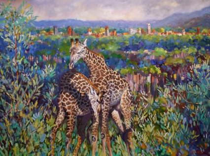 Giraffic Park 60x80cm