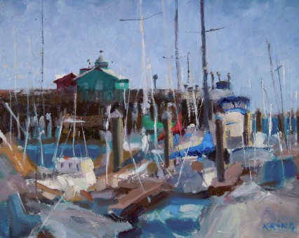 Monterey Harbor, California, 8x10in