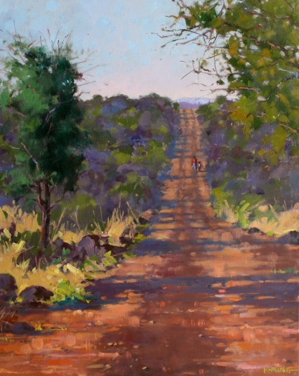 Morning Commute, Tanderra, Mazabuka 50x40cm