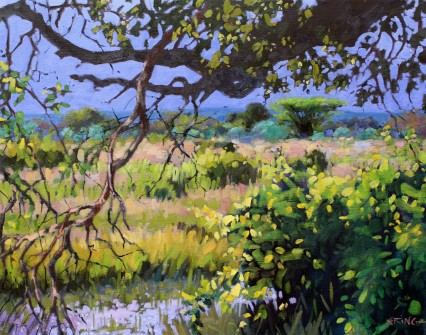 Storm Approaching, Wildlife Camp, Mfuwe 40x50cm