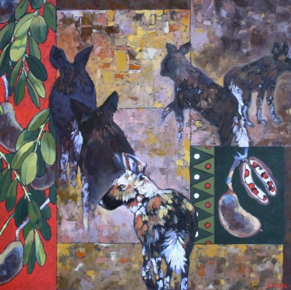 Wild Dogs and Pod Mahogany 2 50x50cm