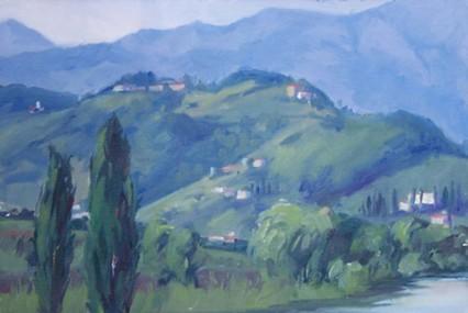 Towards Ponte a Moriano