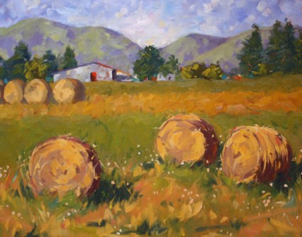 S. Alessio Hay Bales -- Oil