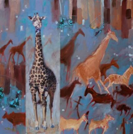 Giraffe & Cave Painting