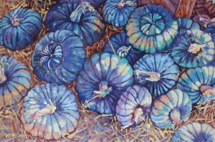 Pumpkins from above #2 (blue)