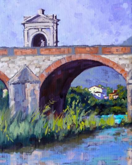 Sotto Ponte S. Quirico 40x50cm