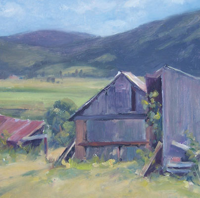 Barns, NM (plein air)