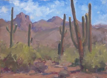 saguaro storto (plein air)
