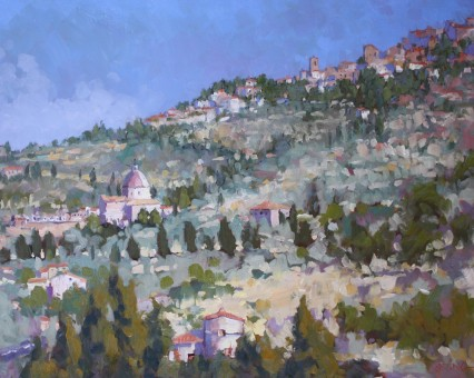 Calcinaio from the Hills, Cortona 48x60cm