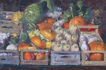 Roadside Stand near Grosseto, 40x60cm