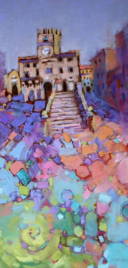 Colorful Cortona Comune, 19.5x40cm