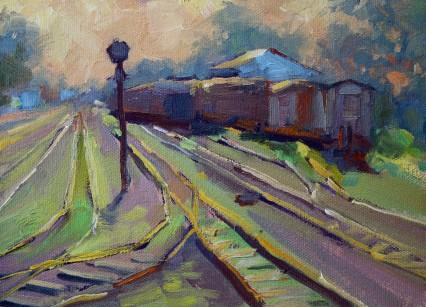 October Sunset in Mazabuka Railyard