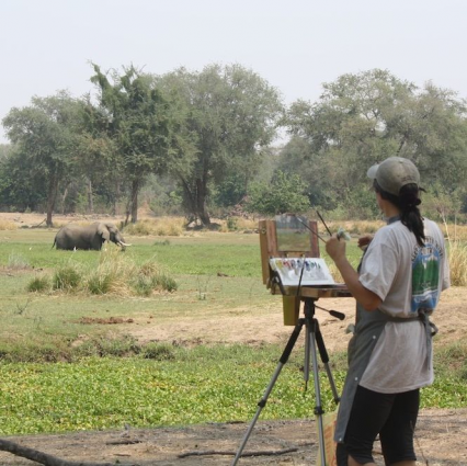 painting in Lower Zambezi National Park