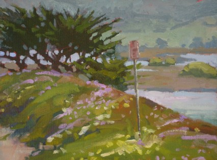 Carmel River - No Parking 9x12in