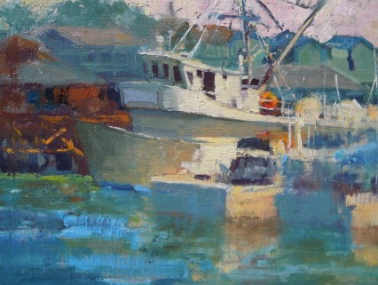 Fueling Trawler 9x12in