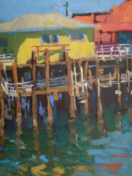 Monterainbow Wharf 9x12in