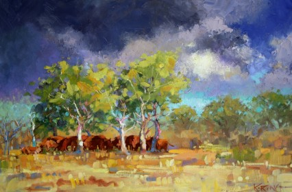 The Happy Cows of Sikalozia 40x60cm
