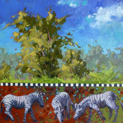 The Pastures of Tanderra Ridge 50x50 cm