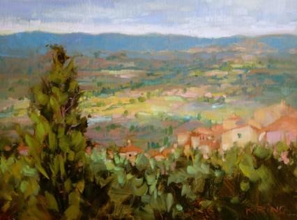 Vista della Valley study 9x12in