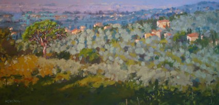 Walking Down from Cortona 50x100cm