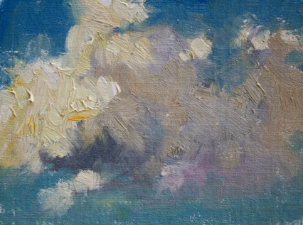 cloud study #1 6x8in
