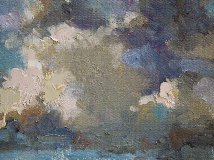 cloud study #2 6x8in