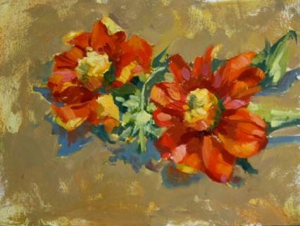 flower study 6x8in