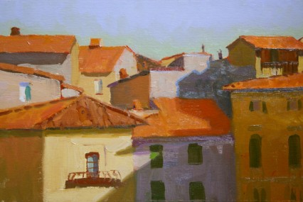 from wall above piazza s. maria, 20x30 cm