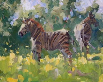 sparkling zebras 8x10in