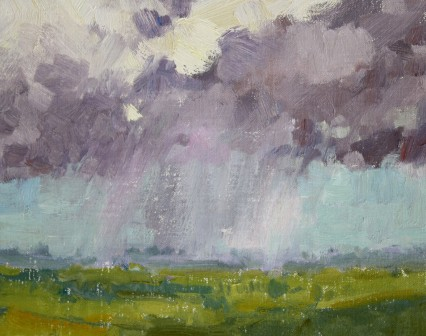 storm in the valley 8x10in
