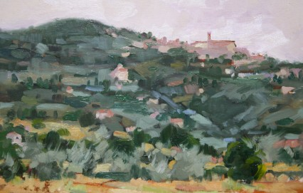 study, my old house, Cortona 20x30cm