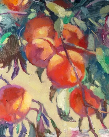 Under the Peach Tree #3, 8x10in