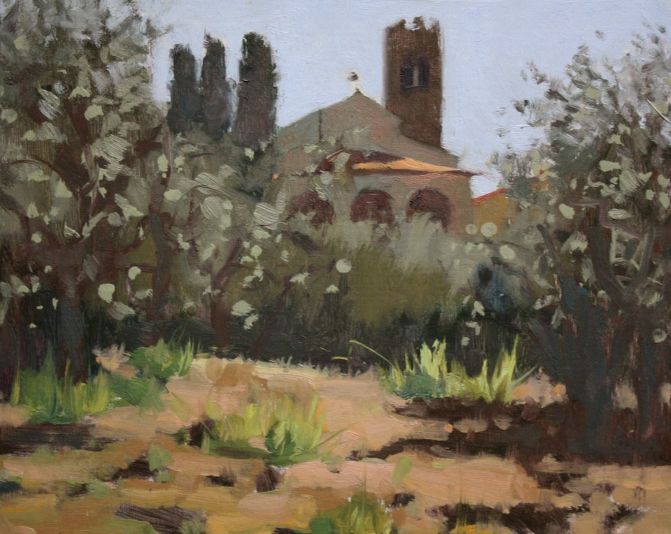 Backlit Pieve, 8x10in