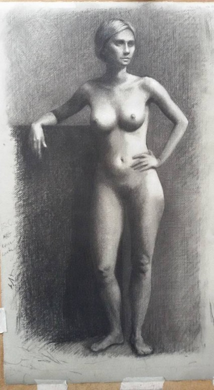sight-size in charcoal