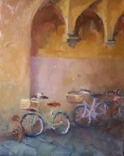 Bikes in the Anfiteatro Archway 25x20cm, €320