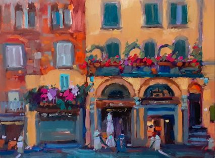 Early Morning in Piazza S. Michele 30x40