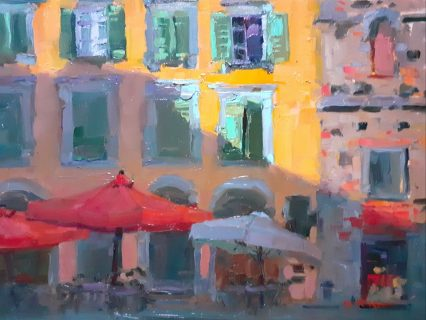 Early Morning in Piazza S. Salvatore 30x40
