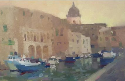 Old Port, Monopoli #1, oil on panel, 20x30 cm