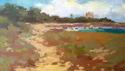 Path to the Tower, San Foca 15x25 cm