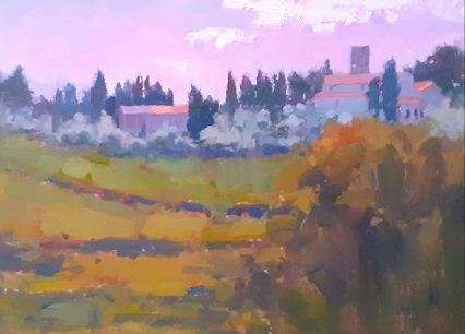 Pieve S. Stefano from the Villa 40x30