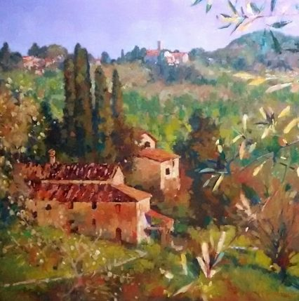 Through the Olive Trees, Lucca 74x74