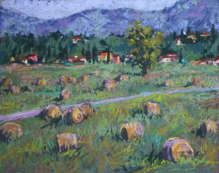 Rolling Hay Bales, 20x25cm, $349.