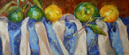 Still Lemons with Life, approx .20x42