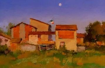 Andra' Tutto Bene #12, Moon Over Corte Masini at Sunset