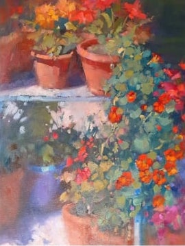 Andra' Tutto Bene #19, Flower Posts AGAIN, 40x30