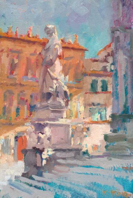 Dante in Piazza S.Croce, 30x20